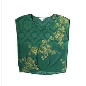 Cabi Green with Envy Floral Blouse